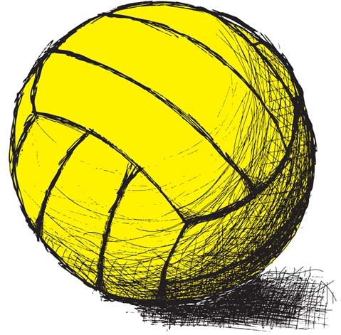Drawn amd volleyball Portfolio Volleyball