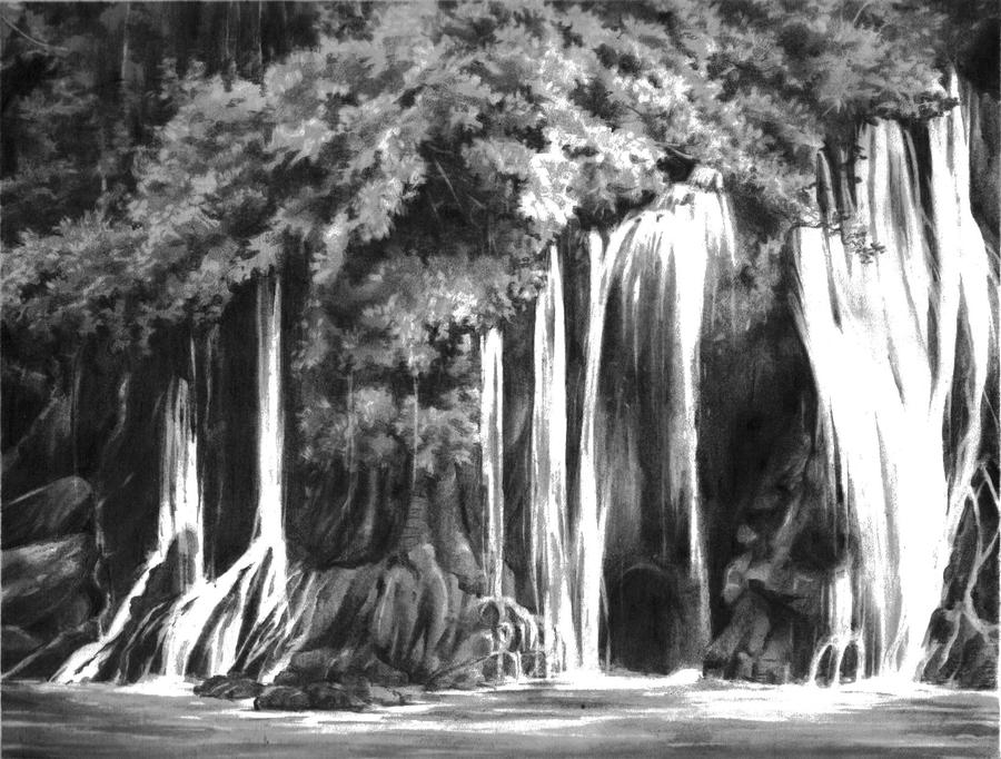 Drawn amd waterfall The Waterfall Lehoux: Lehoux Tanya