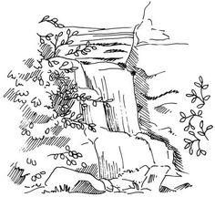 Drawn amd waterfall Draw waterfall How drawing to