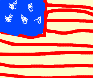 Drawn american flag Flag your USA flag in