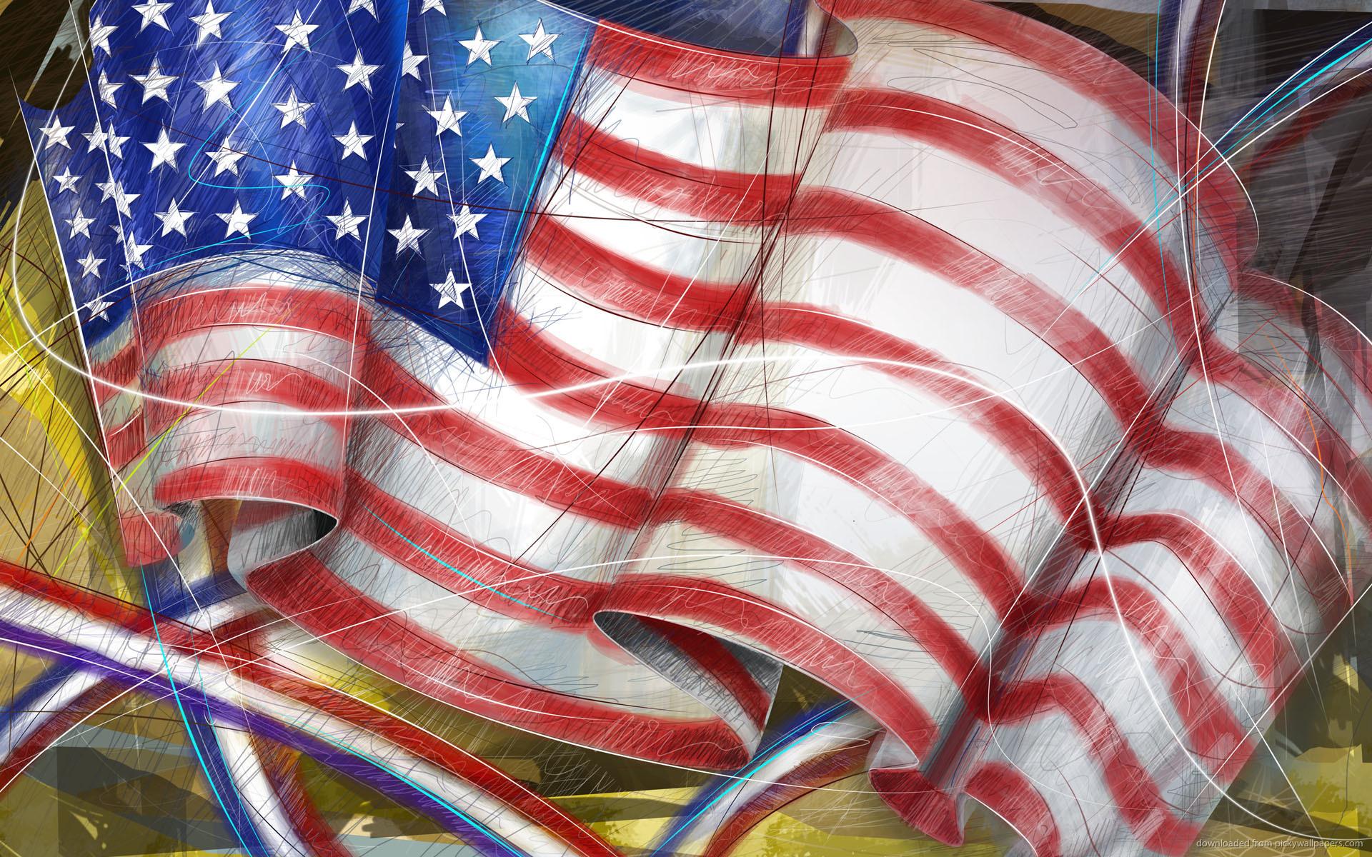 Drawn american flag Drawn Wallpaper flag 1920x1200 Download