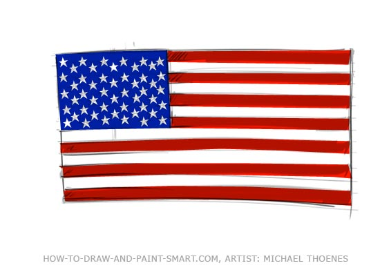 Drawn american flag Flag American Graphics American Clipart