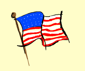 Drawn american flag Flag Flag by FromMeToYou )