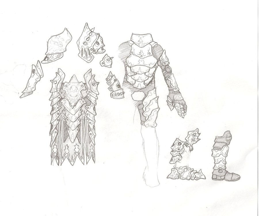 Drawn armor Kinshou14 kinshou14 on D Dragonic