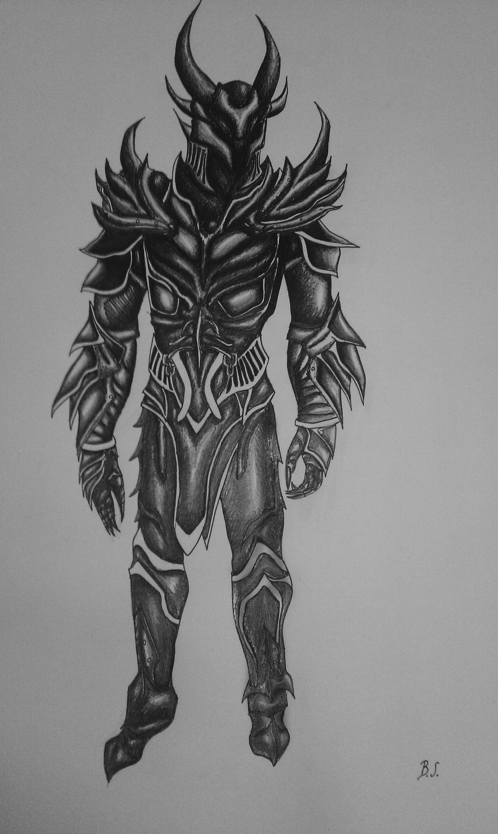 Drawn armor Drawn scratch from on armor