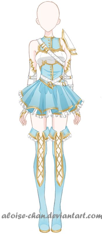 Drawn costume frock On Weapons Clothes best Anime