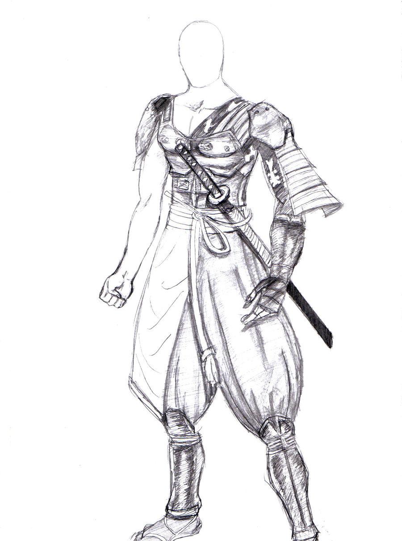 Drawn samurai samurai armor Idea Character is of this