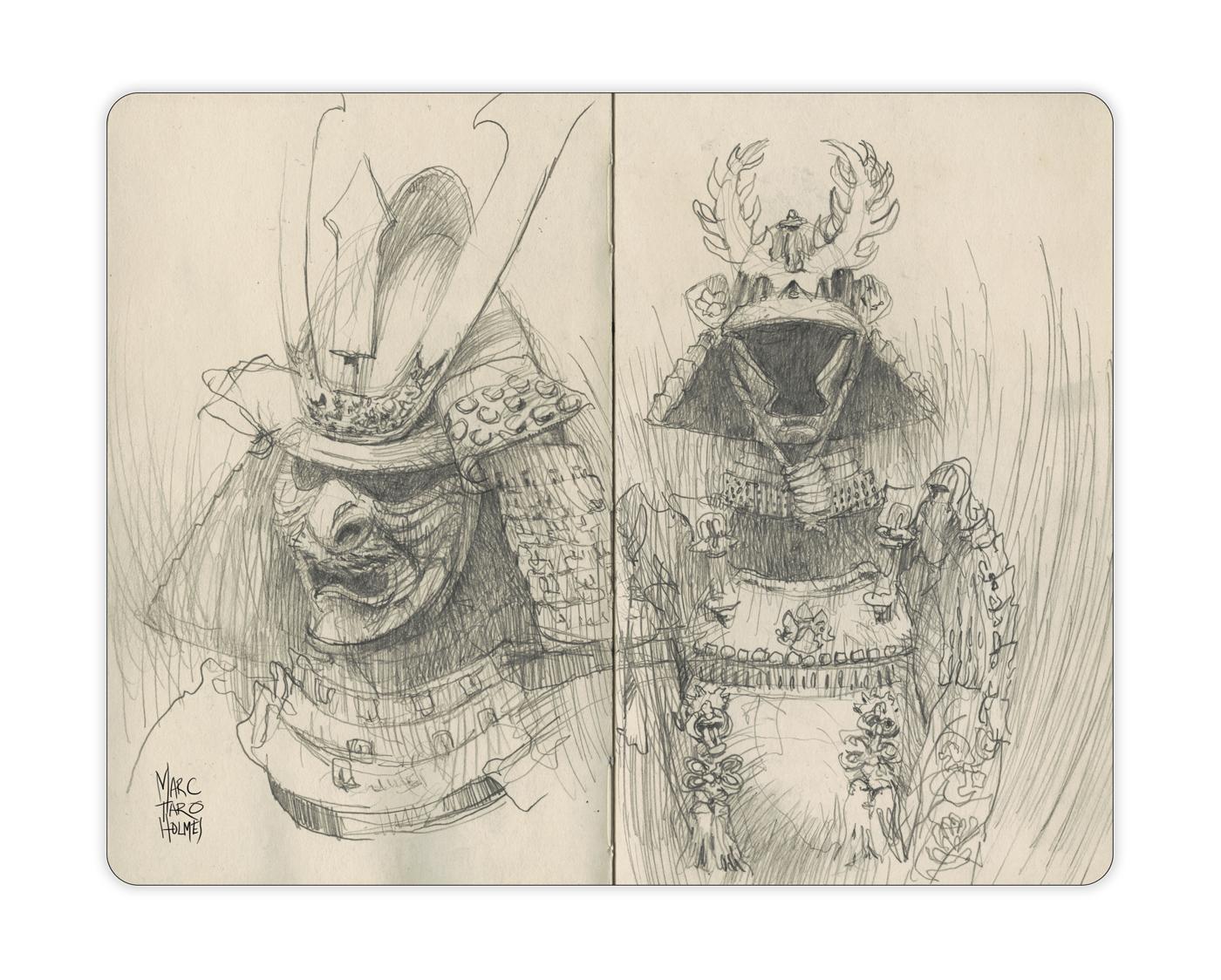 Drawn samurai face Pointe Sketcher Citizen the at