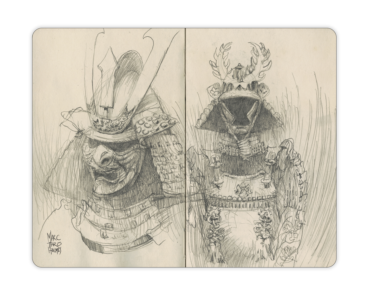 Drawn samurai two sword Callière à Citizen Samurai Sketcher
