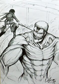 Drawn amour attack on titan #12