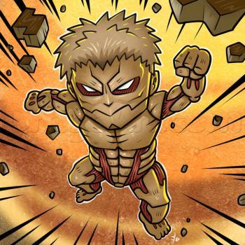 Drawn amour attack on titan #9