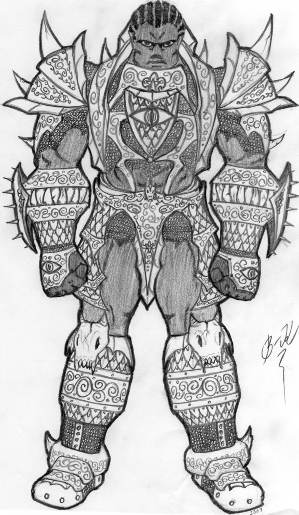 Drawn amour draconic Orc Draconic by Heavy Orc
