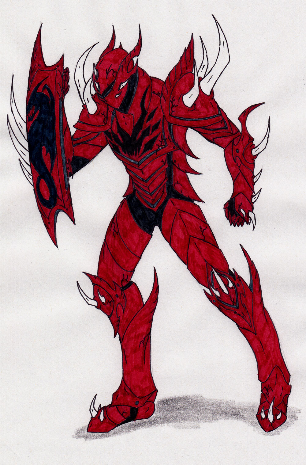Drawn amour draconic Armor permutation Nimrohd Spiked by