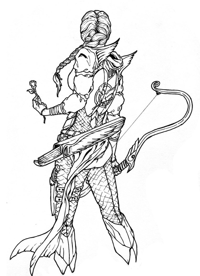 Drawn amour draconic By Armor on inked Redkills