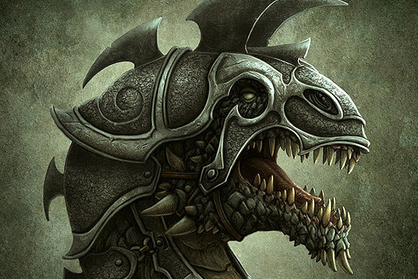 Drawn amour dragon Dragon 45 armour Art in