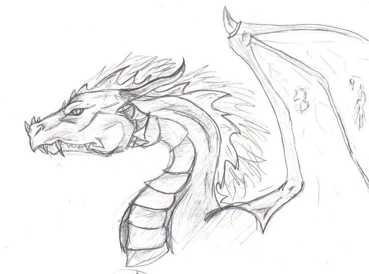 Drawn amour dragon head Pinterest Dragon on draci images