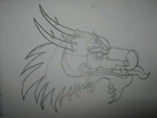 Drawn amour dragon head Kids draw ideas How on