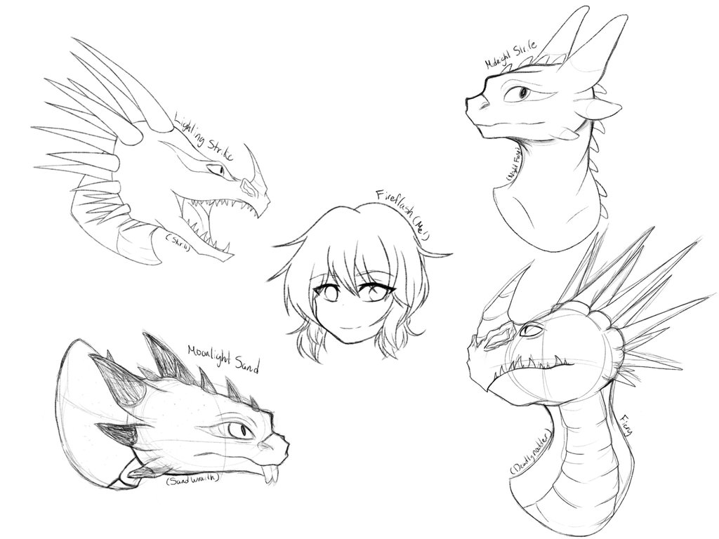 Drawn amour dragon head To Fireflash's ( of Dragons