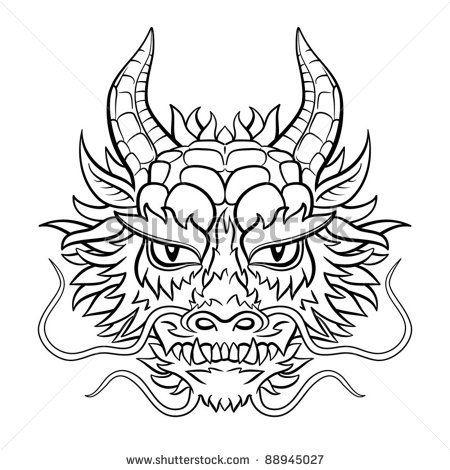 Drawn amour dragon head Ejderha chinese Les à propos