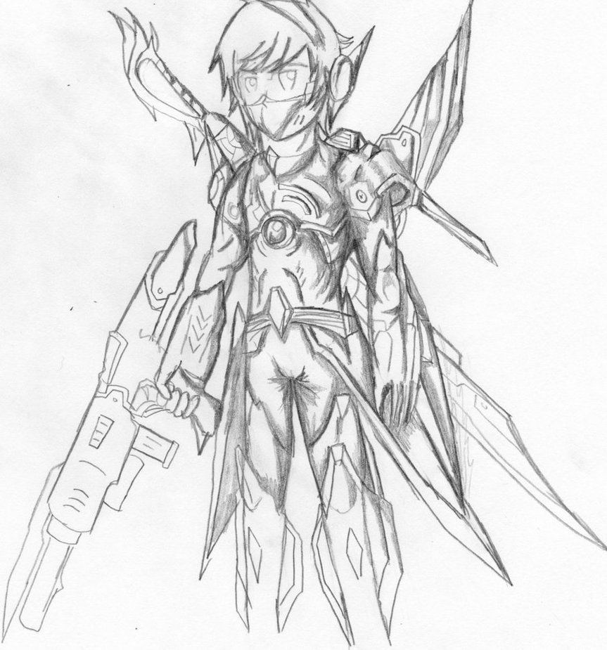 Drawn armor futuristic Drawing FREE Other Armor How
