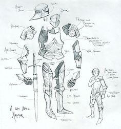Drawn armor jerkin Spoiler armor for would jousting