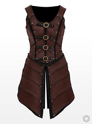 Drawn amour leather Armor brown Weaponry Armour 152
