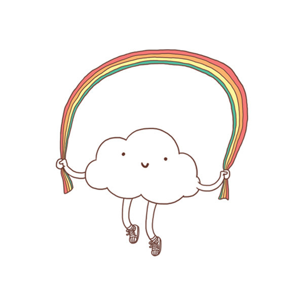 Drawn amour rainbow Skipping Rainbow Rain Rain