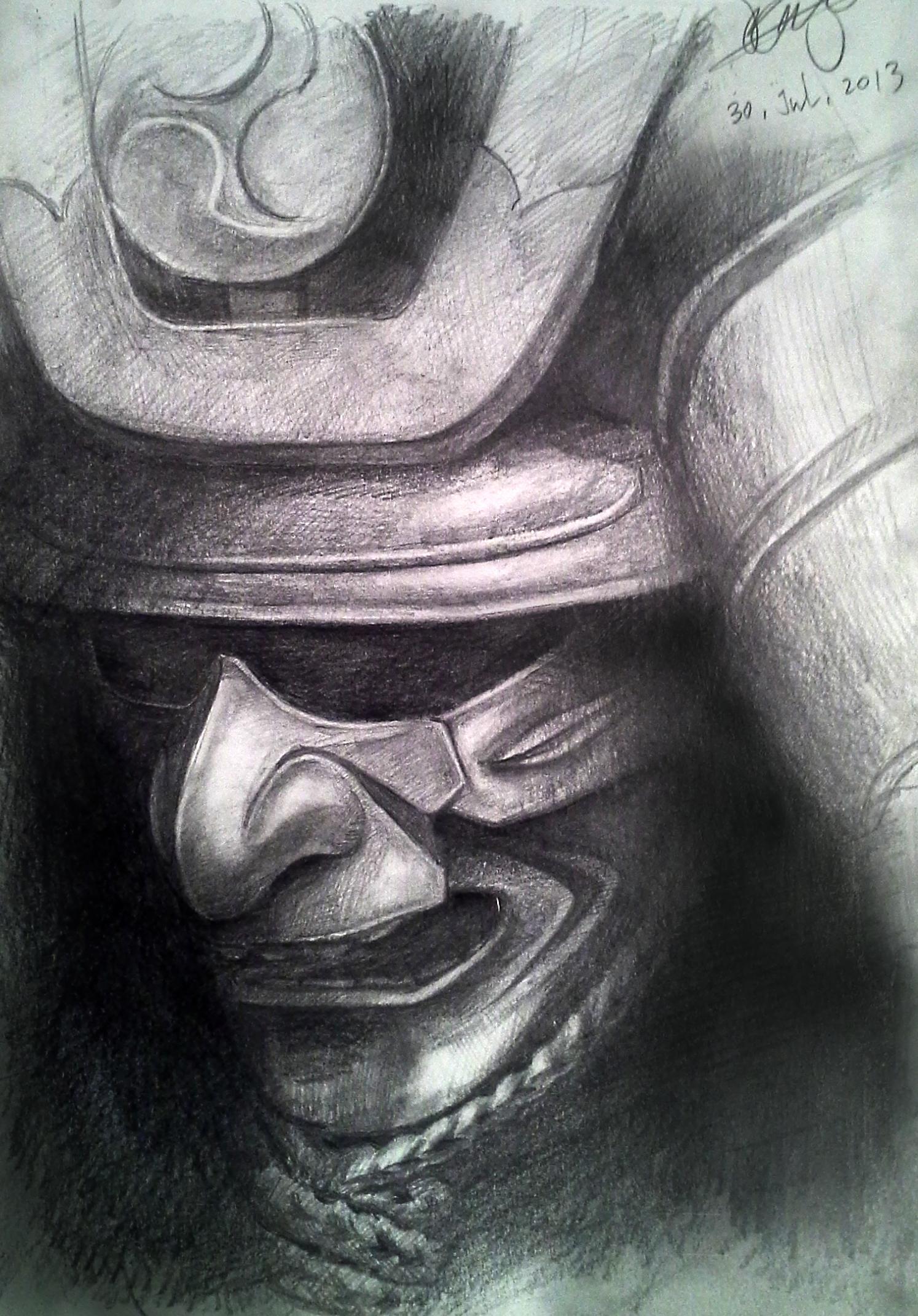 Drawn samurai samurai warrior Pinterest armor Samurai armor armor