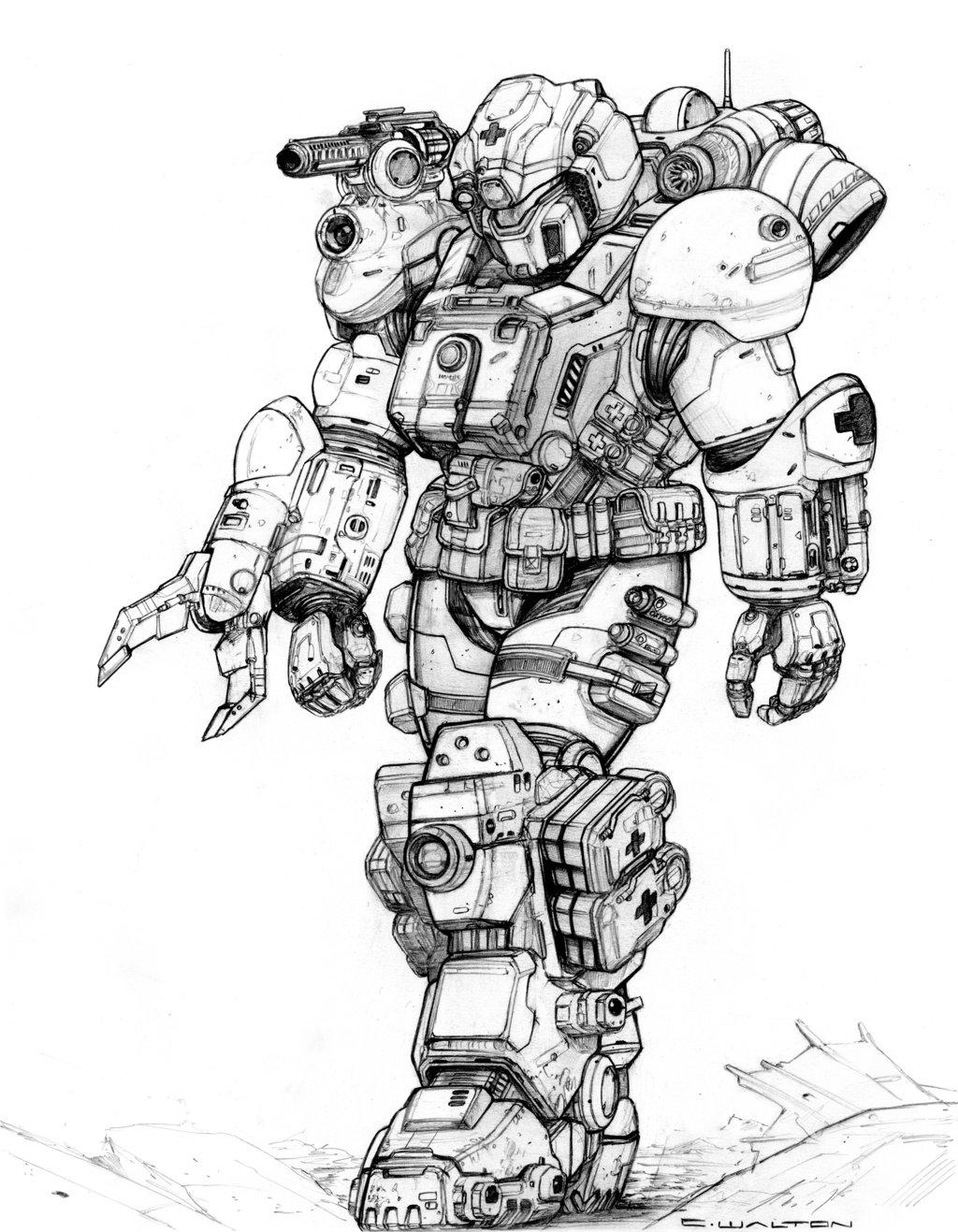 Drawn armor white knight #1
