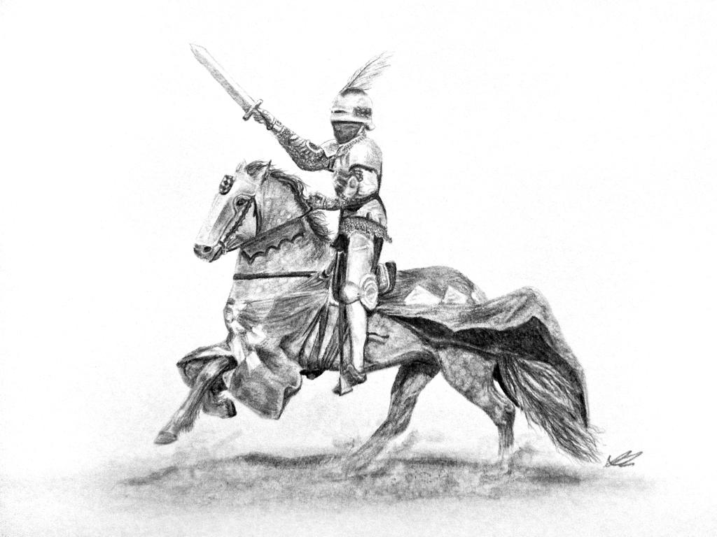 Drawn armor white knight #11