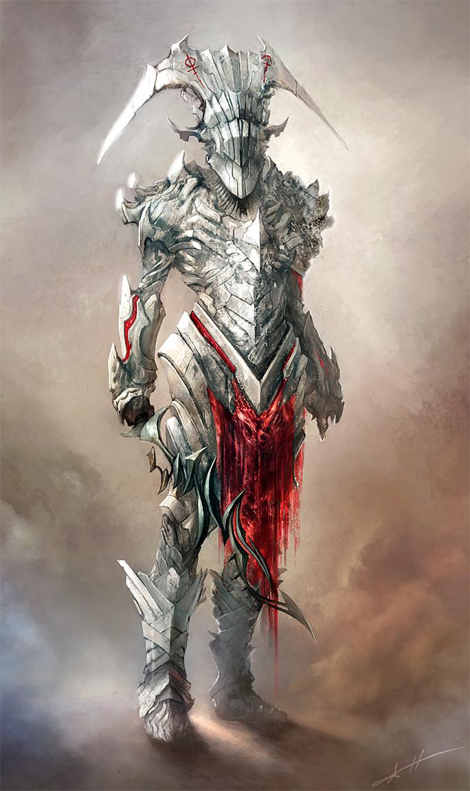 Drawn armor white knight #6