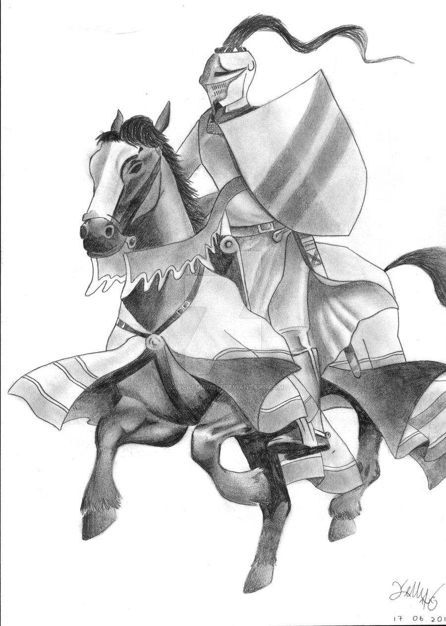 Drawn armor white knight #12