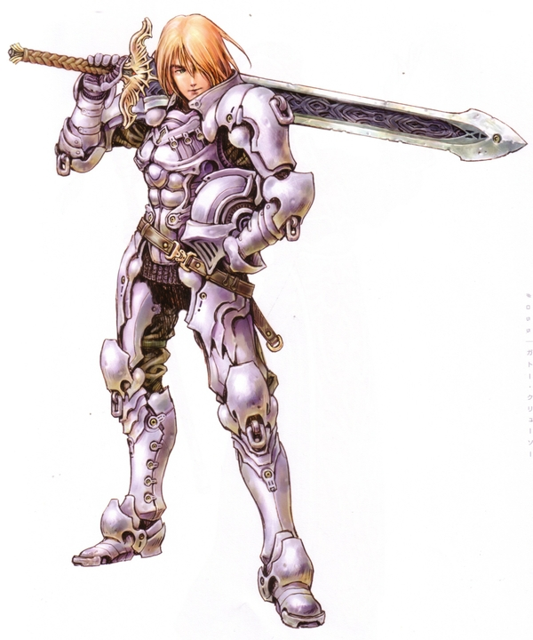 Drawn armor white knight #13