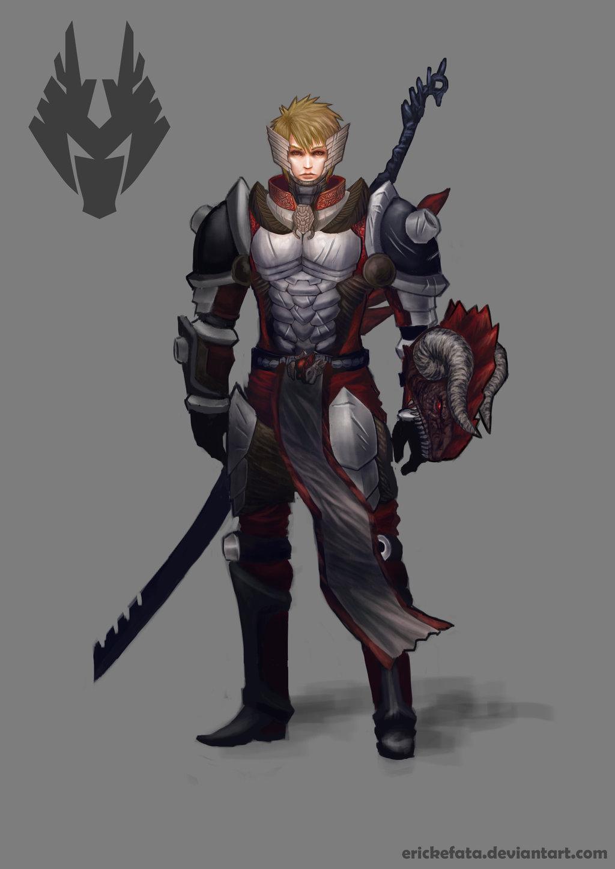 Drawn armor white knight #14