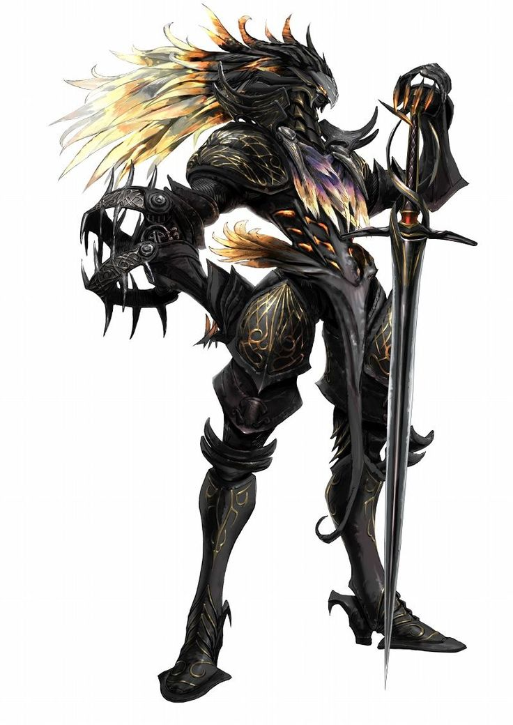 Drawn armor white knight #4