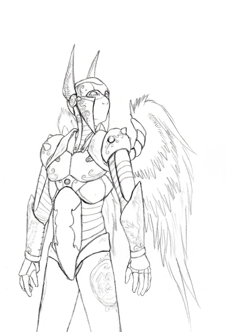 Drawn armor white knight #2