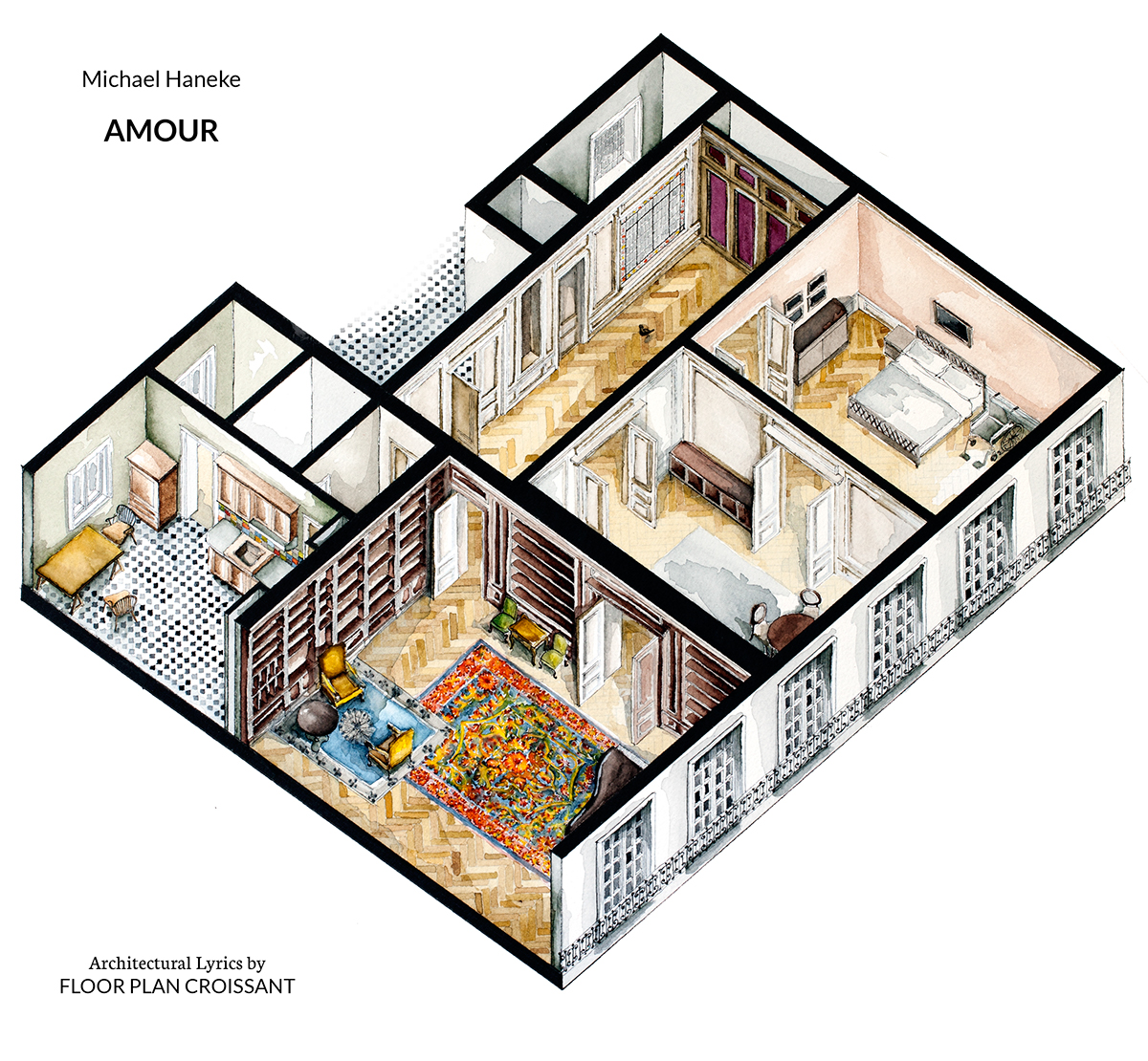 Drawn amour wind Floor Watercolor of isometric https://