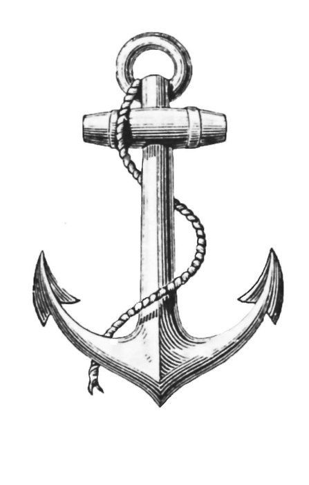 Drawn anchor skull Anchor anchor Pinterest 25+ She