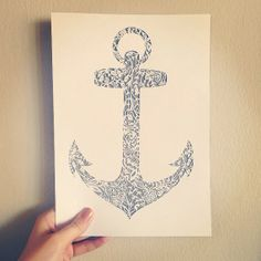 Drawn anchor cross Anchor cut Original 00 and