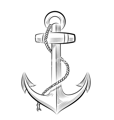 Drawn anchor cross Color Download Drawing Drawing