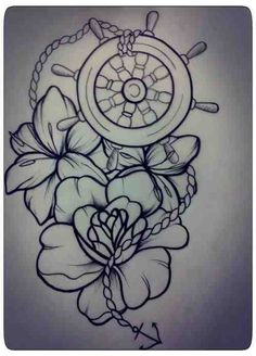 Drawn anchor american traditional — h1nkle this with I'd