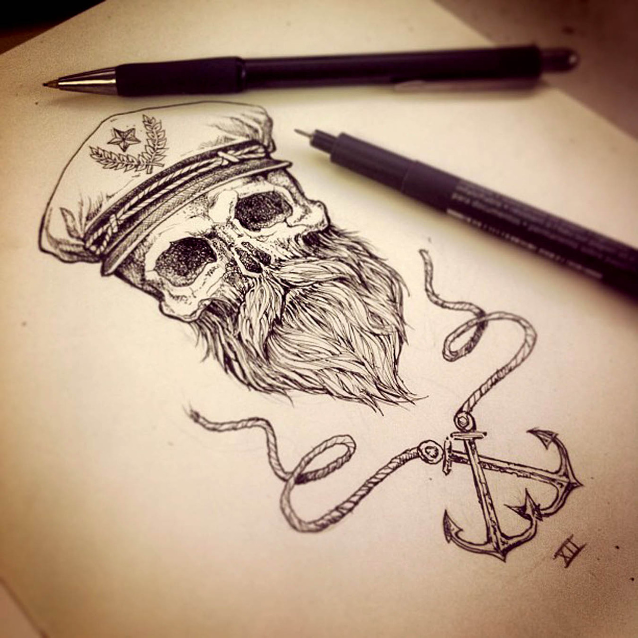 Drawn anchor american traditional Inspiration art nautical awesome Awesome