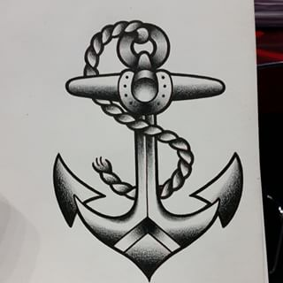 Drawn anchor american traditional Traditional tattoo anchor traditional