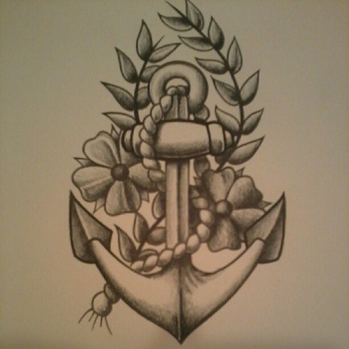 Drawn anchor american traditional I to american  add