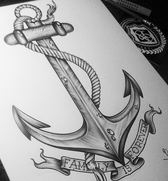 Drawn anchor american traditional  Ink Drawn Old —