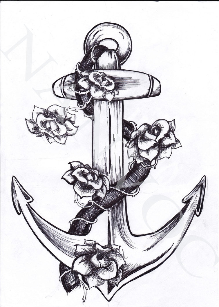 Drawn anchor ancor Pinterest Tatting and drawings Tattoo
