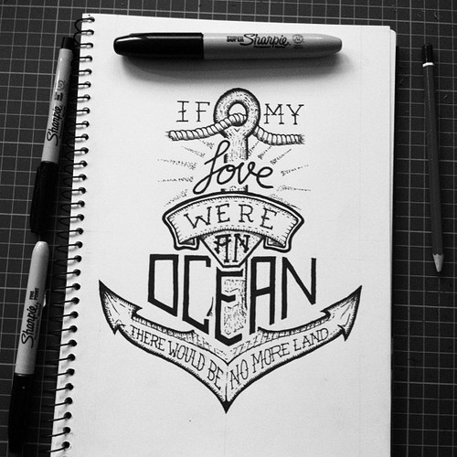 Drawn anchor ancor Drawing sharpie words white drawing