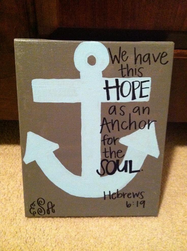 Drawn anchor bible verse Pinterest  Verse Anchor Bible