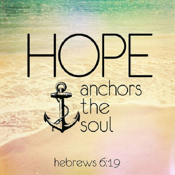 Drawn anchor bible verse Heart hope on about Best
