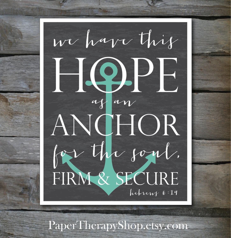 Drawn anchor bible verse Bible 8 or an Hope